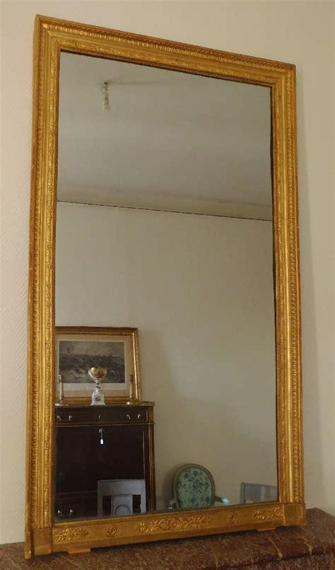 miroir de cheminée grand miroir de chemin 233 e en bois dor 233 glace au mercure en