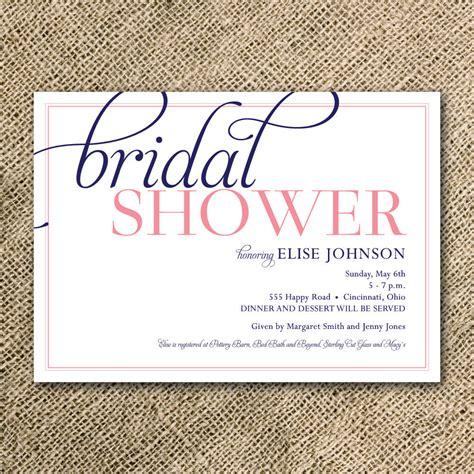 bridal shower invitation simple modern script by kindlyreply