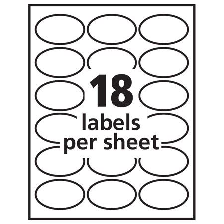 Avery 6583 Template by Avery Oval Easy Peel Labels 1 1 2 X 2 1 2 Matte White