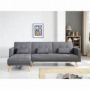 canap gris fonc excellent hga canap scandinave places With tapis de yoga avec canapé convertible scandinave ikea