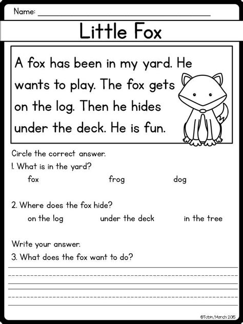 free easy reading worksheets for kindergarten easy and beginner reading comprehension passages and
