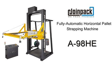 fully automatic horizontal pallet strapping machine ahe  cola youtube