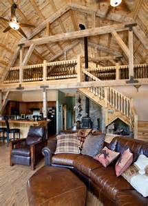 Pole Barn Home Interiors Various Barn Home Interiors Traditional Living Room Other Metro By Sand Creek Post Beam