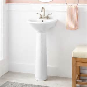 Pedestal Sinks For Small Bathrooms by Farnham Porcelain Mini Pedestal Sink Pedestal Sinks