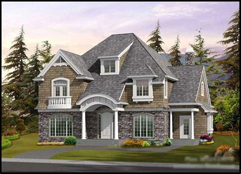 shingle style house plans  home design   england roots