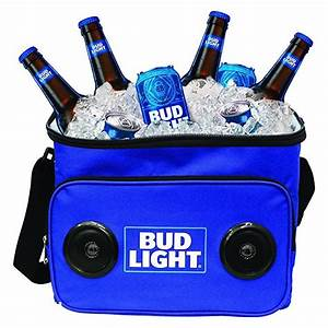 Bud Light Cooler With Speakers Rolling Cooler With Bluetooth Speakers