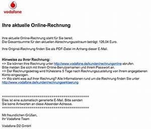 Meinvodafone De Rechnung : virusmail von der schufa und vodafone provinzblogger ~ Themetempest.com Abrechnung