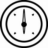 Barometer Outline Icon sketch template