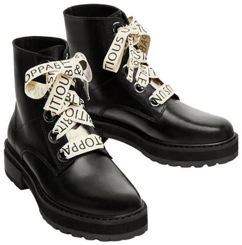 zara black flat leather combat ankle positive affirmations