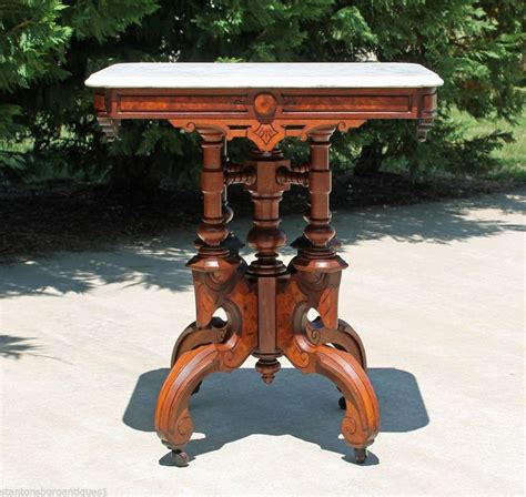 victorian era table ls spectacular victorian renaissance walnut marble top parlor