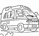 Caravan Coloring Van Camping Compact Pages Coloriage Enfant Coloringcrew Colorear Vanlife Campingcar sketch template