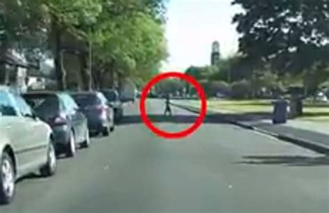Hilarious Dashcam Footage Shows Cheeky Young Boy