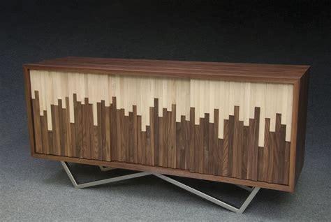handmade wave credenza  modernist woodworking