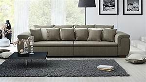 Couch Kissen Xxl : xxl sofa big sofa mega sofa ultrasofa couch kuschelsofa webstoff braun grau beige ~ Indierocktalk.com Haus und Dekorationen
