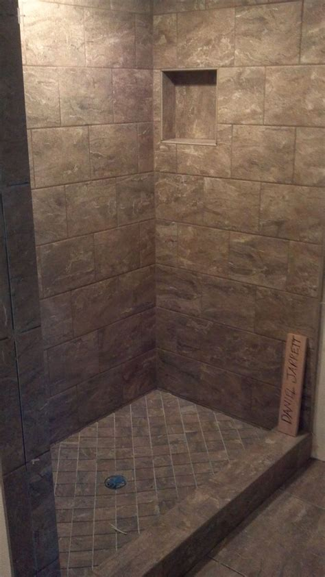 Tile Shower Pan by Ceramic Tile Shower With Sloped Shower Pan Decorations