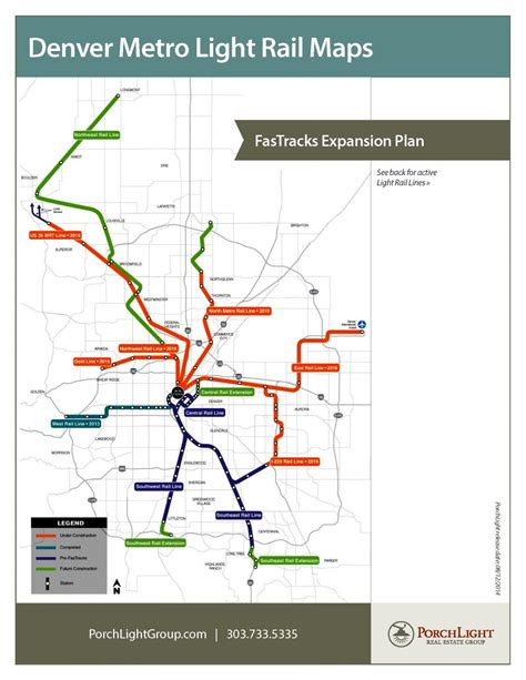 light rail map denver current and future denver metro light rail stops