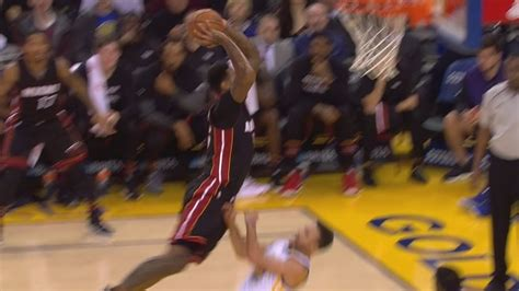 LeBron James Dunks On Stephen Curry