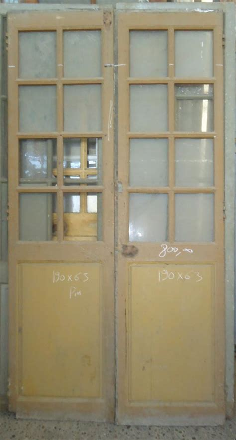 porte interieure ancienne vitr 233 e 2 vantaux en pin