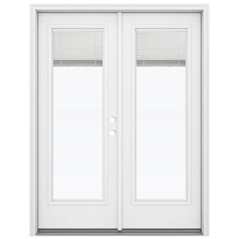 patio doors outswing shop reliabilt 59 5 in blinds between the glass primed