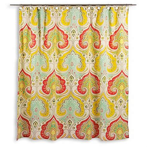 echo design jaipur fabric shower curtain bed bath