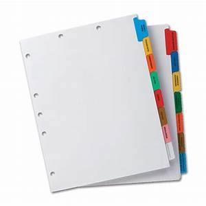 4 best images of paper medical charts chart divider tabs With document dividers tabs