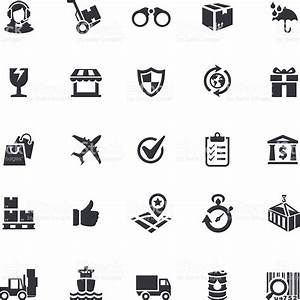 Delivery Icon Set Stock Vector Art & More Images of ...