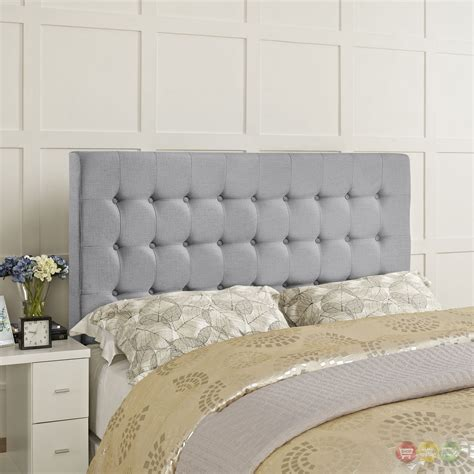 Plush Headboard by Tinble Plush Button Tufted Upholstered Headboard