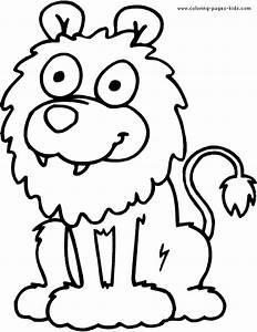 Cartoon Lion color page