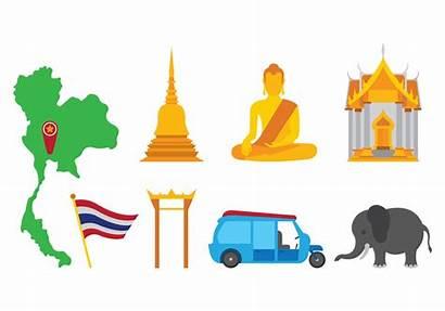 Vector Bangkok Icons Temple Clipart Graphics Vecteezy