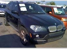 Export Salvage 2007 BMW X5 48I BLUE ON BROWN