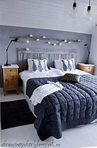 Deco Chambre Bois : une t te de lit en bois dans une chambre la d co cocooning ~ Melissatoandfro.com Idées de Décoration