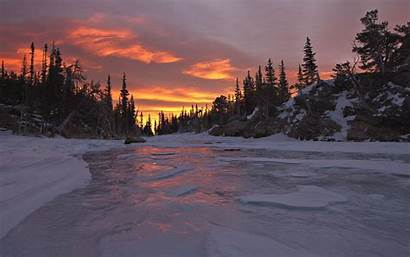 Sunset Winter Wallpapers Landscape Fall Desktop Backgrounds