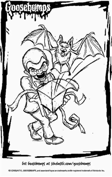 goosebumps coloring pages 1000 images about slappy on slappy the dummy