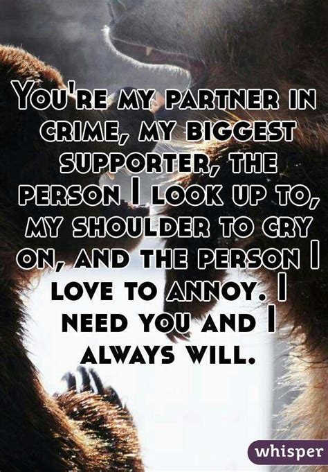 My Partner Crime Quotes