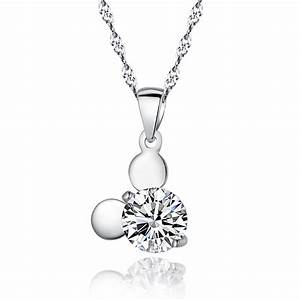 genuine sterling 925 silver pendant necklace jewelry with With pendentif
