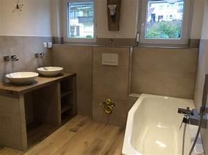 Bad Betonoptik Holz : referenzen moderne badezimmer gestalten im raum main ~ Michelbontemps.com Haus und Dekorationen
