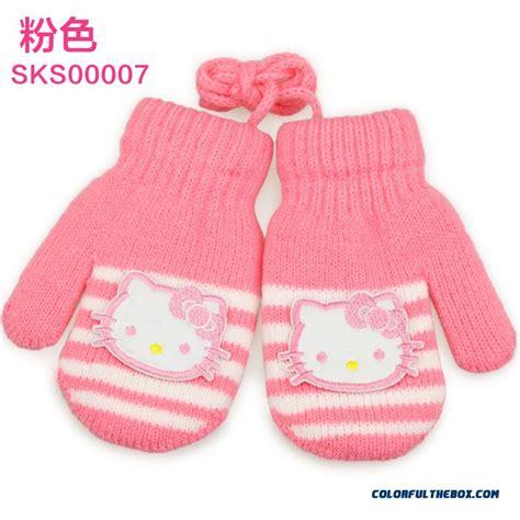 cheap hellokitty kids warm winter gloves baby kids gloves