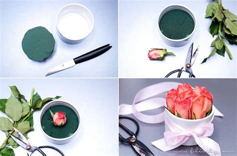 valentinstag geschenke zum selber machen 3x flowerbox selber machen diy geschenkidee deko