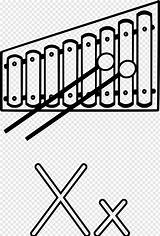 Xylophone Coloring Drawing Pngfuel Clip sketch template