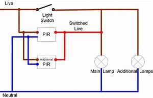 2 Way Switching With Passive Infra Red Sensors