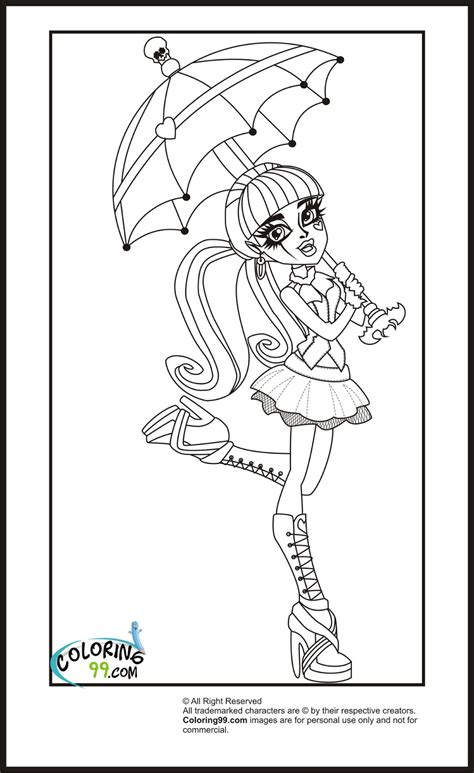 monster high draculaura coloring pages team colors