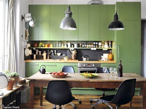 cuisine vert photo decoration cuisine vert de gris 9 jpg