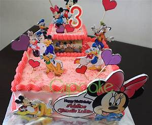 Minnie Mouse Buttercream Cake for Adelia's Bday | 3d cakes ...