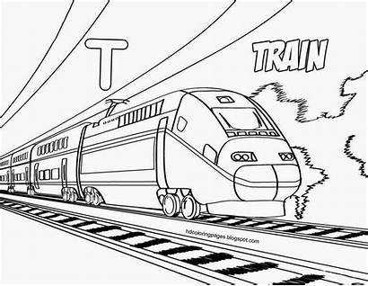 Coloring Train Pages Monorail Dessin Coloriage Colorier
