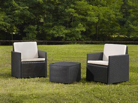 le meilleur fauteuil de bureau salon de jardin en résine moulée anthracite 2 fauteuils et 1 table basse elvire