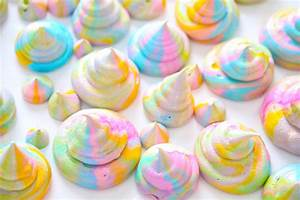 Unicorn Poop Meringue Cookies