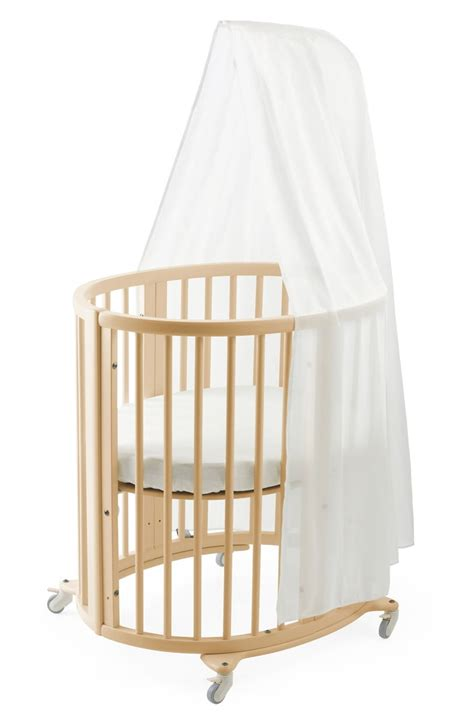 Crib Drapes - stokke sleepi mini crib drape rod mattress bundle