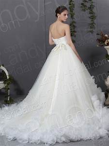 looking chic and elegant with strapless ball gown wedding With ivory ball gown wedding dress
