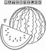 Watermelon Coloring Pages Fruit Sheets Drawing Colorings Fresh Coloringpagesfortoddlers Fruits Printable Summer Getdrawings Colored sketch template