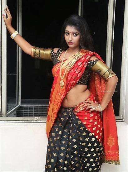 Saree Tanishka Navel Actress Indian Ragalahari Reddy